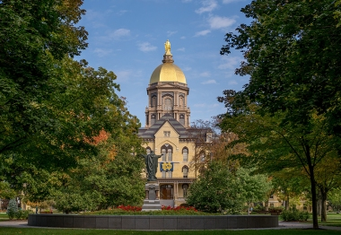 Oct. 8, 2015; Main Building (Photo by Matt Cashore/University of Notre Dame)